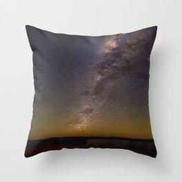 Milky Way Galaxy Star Night Sky Night Time Throw Pillow