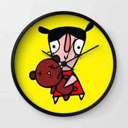 nena  con osito Wall Clock