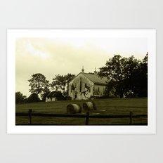 Civil War Era Barn Art Print