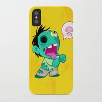 zombie iPhone & iPod Cases featuring zombie by Melissa Ballesteros Parada