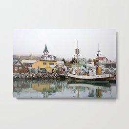 Husavik Whaling Bay Metal Print