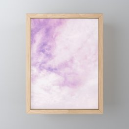 Fuchsia Cloud // Colorful Sunset Pink and Purple Fluffy Ocean Sky Photography Beach Vibes Framed Mini Art Print