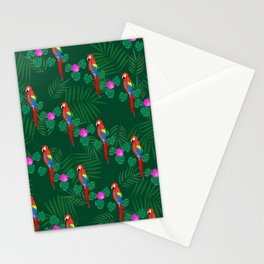 Emerald Parrots Stationery Cards