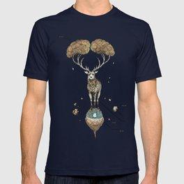 Asteroid Brain Diagnostics // (metaphysical deer) T-shirt