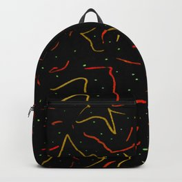 Lines Abstract Print Backpack