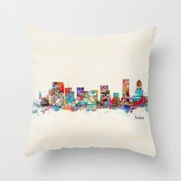 Portland Oregon skyline Throw Pillow
