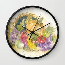 Cornucopia Wall Clock
