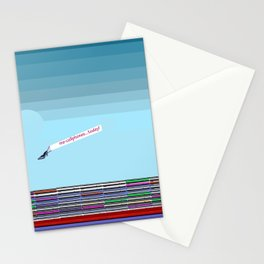 The Long Boat Taking Cellphones for May in May Stationery Cards