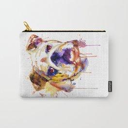 English Bulldog Head Carry-All Pouch