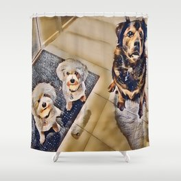 A Fetching Group Shower Curtain