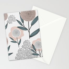 Retro Floral Pattern 1 Stationery Cards