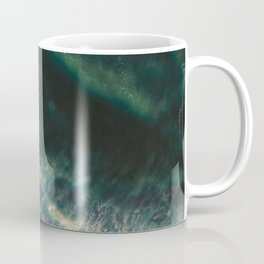 The good surf | Surfer girls from above in Ericeira Portugal | Ocean wanderlust photography print  Coffee Mug