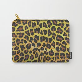 Leopard Brown and Yellow Print Carry-All Pouch