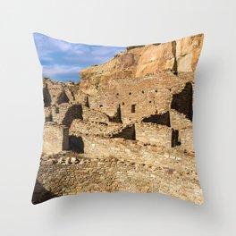 Pueblo Bonito in Chaco Canyon Throw Pillow