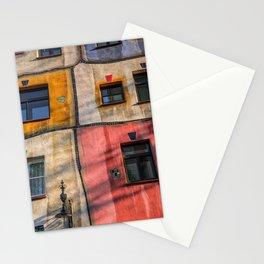 Hundertwasserhaus  Vienna Austria 2 building Stationery Cards