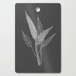 Black and White Botanical Drawing Cutting Board