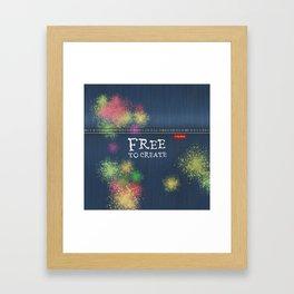 Denim Jeans - Free To Create Framed Art Print
