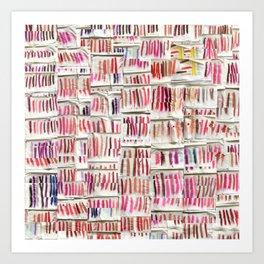 Lipstick Swatches Art Print