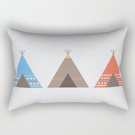 Three Teepees Rectangular Pillow