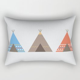 Three Teepees Rectangular Pillow