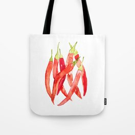 Watercolor Chilies Tote Bag