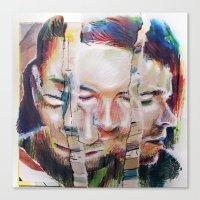 selfie Canvas Prints featuring Selfie by robotrake