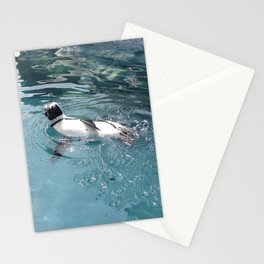 Penguin Takes a Dip Stationery Cards