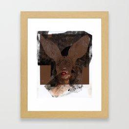 Polaroid Bunny  Framed Art Print