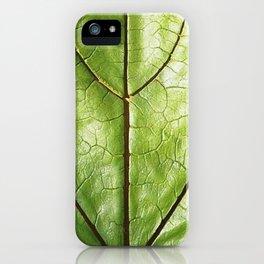 TROPICAL GREEN LEAF WITH  DARK VEINS DESIGN ART iPhone Case