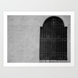 Barred Window  Art Print
