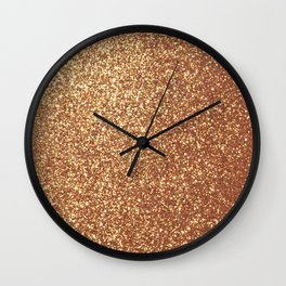 Bright Shiny Spanish Galleon Gold Glitter Wall Clock