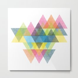 Triangles in Abstraction Metal Print