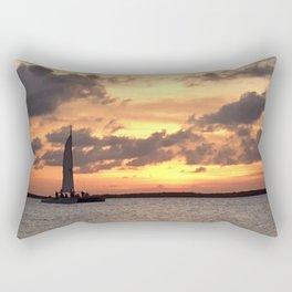 Key West sailing into Sunset Rectangular Pillow