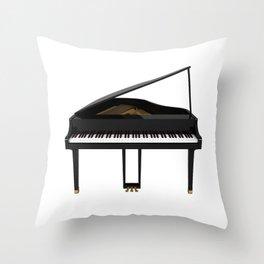 Grand Piano Throw Pillow