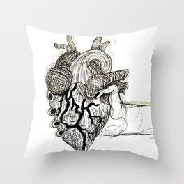Heart in Your Hands Throw Pillow