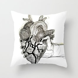 Heart in Your Hands Throw Pillow