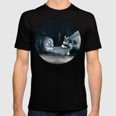 Staring Contest MEDIUM Mens Fitted Tee Black