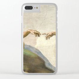 Michelangelo - Creation of Adam Clear iPhone Case