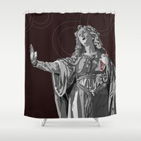 agnes Shower Curtains featuring Agnes by Kelly Kistler