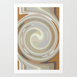 Distorted stripes in colour 3 Art Print