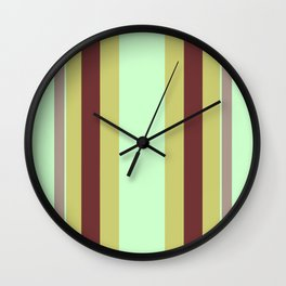 Vintage 70's Curtains Wall Clock