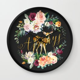 Always - Fawn - Gold/Charcoal Wall Clock