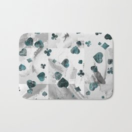 Luxury Marble Suits Pattern Digital Art Bath Mat