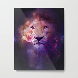 Cosmic Lion Metal Print