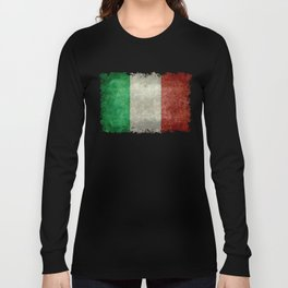 Italian flag, vintage retro style Long Sleeve T-shirt