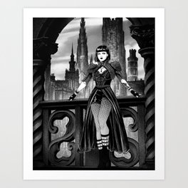 Dark City Queen Art Print