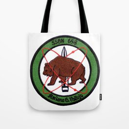 USS MARIANO G. VALLEJO (SSBN-658) PATCH Tote Bag