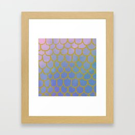 Golden Scales and Fishy Tails Framed Art Print