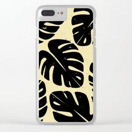 Monstera Leaf Print 2 Clear iPhone Case