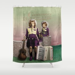 The Country Collies Shower Curtain